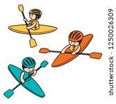 vector set of kayak | Shutterstock .eps vector #1250026309