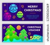 gift voucher template. vector... | Shutterstock .eps vector #1250026369
