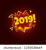2019 comic speech bubble. pop... | Shutterstock .eps vector #1250038669