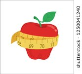 diet and weight loss concept ... | Shutterstock .eps vector #1250041240