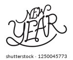 graphic happy new year | Shutterstock .eps vector #1250045773
