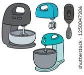 vector set of cake mixer | Shutterstock .eps vector #1250047306