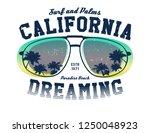 california surfer tee graphic....   Shutterstock .eps vector #1250048923