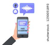 voice recognition and voice... | Shutterstock .eps vector #1250051893