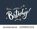 happy birthday card. beautiful... | Shutterstock .eps vector #1250052103