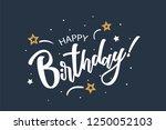 happy birthday card. beautiful... | Shutterstock .eps vector #1250052103
