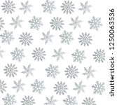 silver snowflakes isolated on... | Shutterstock . vector #1250063536