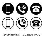 phone icon vector. call icon... | Shutterstock .eps vector #1250064979