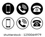 phone icon vector. call icon... | Shutterstock .eps vector #1250064979