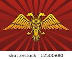 Double Headed Eagle In Dark Re...