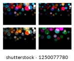 set of bokeh effect backdrop.... | Shutterstock .eps vector #1250077780