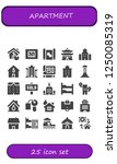 vector icons pack of 25 filled... | Shutterstock .eps vector #1250085319