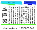 vector icons pack of 120 filled ... | Shutterstock .eps vector #1250085340