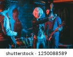 band during gig making rock...   Shutterstock . vector #1250088589