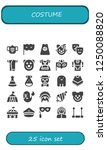 vector icons pack of 25 filled... | Shutterstock .eps vector #1250088820