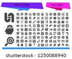 vector icons pack of 120 filled ...   Shutterstock .eps vector #1250088940