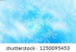 beautiful frosty window...   Shutterstock . vector #1250095453