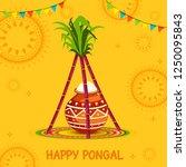 south indian harvesting... | Shutterstock .eps vector #1250095843