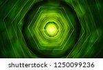bright abstract hexagon tunnel...   Shutterstock . vector #1250099236