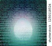 machine fingerprint. binary... | Shutterstock . vector #1250118526