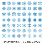 set of 56 decorative blue... | Shutterstock .eps vector #1250123929