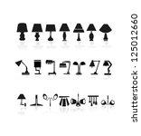 lamp icons   Shutterstock .eps vector #125012660