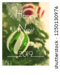 happy new year 2019 and... | Shutterstock . vector #1250130976