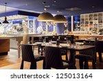 modern amsterdam's restaurant... | Shutterstock . vector #125013164
