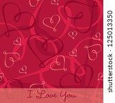 hand drawn heart textured card... | Shutterstock .eps vector #125013350