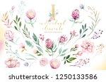 gold glitter letter alphabet.... | Shutterstock . vector #1250133586