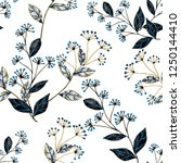 seamless pattern with hand... | Shutterstock . vector #1250144410
