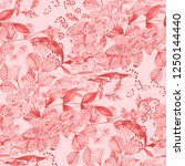seamless pattern with hand... | Shutterstock . vector #1250144440