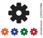 filled settings icon vector... | Shutterstock .eps vector #1250147086