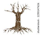 wood and roots vector art ... | Shutterstock .eps vector #1250147626
