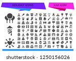 vector icons pack of 120 filled ... | Shutterstock .eps vector #1250156026