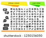 vector icons pack of 120 filled ... | Shutterstock .eps vector #1250156050