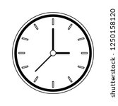 clock round frame black and... | Shutterstock .eps vector #1250158120