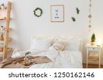 new year winter home interior... | Shutterstock . vector #1250162146