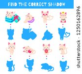 fun game for kids. find the... | Shutterstock .eps vector #1250162896
