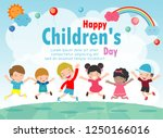 happy children's day background ... | Shutterstock .eps vector #1250166016