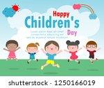 happy children's day background ... | Shutterstock .eps vector #1250166019