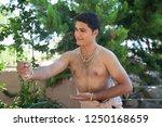 young bharatnatyam male artist... | Shutterstock . vector #1250168659