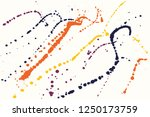 hand drawn set of colorful ink... | Shutterstock .eps vector #1250173759