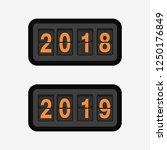 flip clock. isolated flip board ... | Shutterstock .eps vector #1250176849