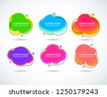 set of modern abstract vector... | Shutterstock .eps vector #1250179243