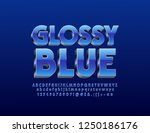vector glossy silver and blue... | Shutterstock .eps vector #1250186176