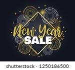 happy new year sale . vector... | Shutterstock .eps vector #1250186500