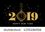 happy new year 2019   new year... | Shutterstock .eps vector #1250186506