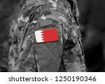 flag of bahrain on military... | Shutterstock . vector #1250190346