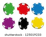 collection of coloured casino... | Shutterstock .eps vector #125019233